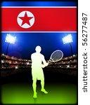 north korea flag and tennis...   Shutterstock .eps vector #56277487