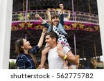 family holiday vacation... | Shutterstock . vector #562775782