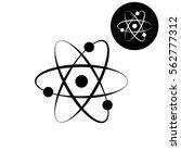 atom    white vector icon | Shutterstock .eps vector #562777312