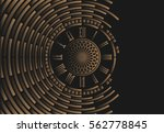 big ben clock dial on abstract... | Shutterstock .eps vector #562778845