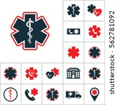 life star snake icon  medical... | Shutterstock .eps vector #562781092