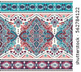 indian floral paisley medallion ... | Shutterstock .eps vector #562784122