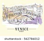 venice vector illustration made ... | Shutterstock .eps vector #562786012