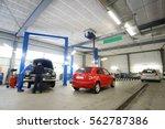 car in a car repair station   Shutterstock . vector #562787386
