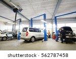 car in a car repair station   Shutterstock . vector #562787458