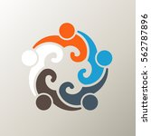 people group in the round.... | Shutterstock .eps vector #562787896