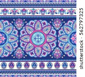 indian floral paisley medallion ... | Shutterstock .eps vector #562797325