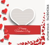 vector happy valentine's day... | Shutterstock .eps vector #562804366