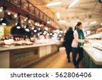 self service buffet in bokeh ...   Shutterstock . vector #562806406
