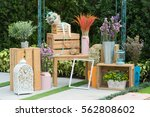 flowers were placed in the park. | Shutterstock . vector #562808602