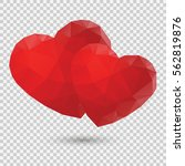 heart low poly. the symbol of... | Shutterstock .eps vector #562819876