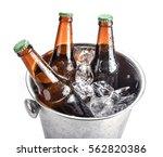 beer bottles in ice bucket ... | Shutterstock . vector #562820386