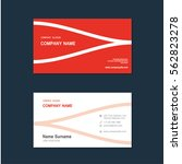 modern simple business card set ... | Shutterstock .eps vector #562823278