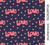 seamless heart pattern vector... | Shutterstock .eps vector #562828918