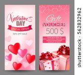 valentines day sale and gift... | Shutterstock .eps vector #562832962