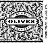 retro olive harvest label black ... | Shutterstock . vector #562833196