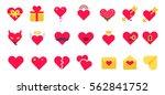 saint valentine icon set | Shutterstock .eps vector #562841752