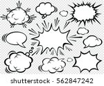 hand drawn of comic bubbles... | Shutterstock .eps vector #562847242