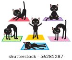 calm,cat,comics,concentration,concept,elements,enjoy,exercise,harmony,hat-ha,health,hinduism,humor,icon,illustration