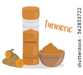 vector turmeric illustration... | Shutterstock .eps vector #562853722