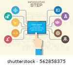 infographic design with 3d... | Shutterstock .eps vector #562858375