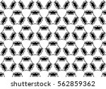 black and white ornament. u | Shutterstock . vector #562859362