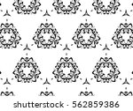 black and white ornament. y | Shutterstock . vector #562859386