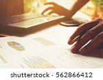 man calculate cost and expenses ... | Shutterstock . vector #562866412