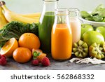 variety of fresh vegetable and... | Shutterstock . vector #562868332