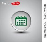 calendar isolated flat web... | Shutterstock .eps vector #562879588