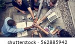 collaboration connection team... | Shutterstock . vector #562885942