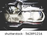 Headlight Of The Motorcycle