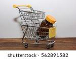 trolly and medicine bottles   Shutterstock . vector #562891582