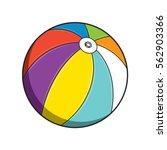 beach ball isolated on white... | Shutterstock .eps vector #562903366
