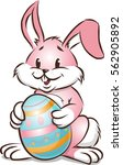 colorful easter bunny | Shutterstock .eps vector #562905892