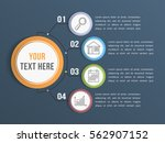 infographic template with four...