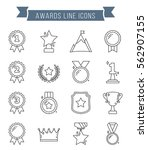 medals and awards line icons ... | Shutterstock .eps vector #562907155