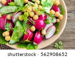 healthy homemade chickpea and... | Shutterstock . vector #562908652