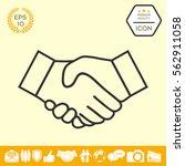 handshake line icon | Shutterstock .eps vector #562911058