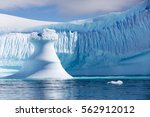 travel among the antarctic ices.... | Shutterstock . vector #562912012