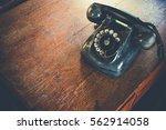 black antique vintage analog... | Shutterstock . vector #562914058