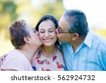 close up portrait happy... | Shutterstock . vector #562924732