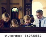 church people believe faith... | Shutterstock . vector #562930552