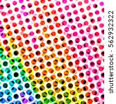 halftone dots spotted circle... | Shutterstock . vector #562932322