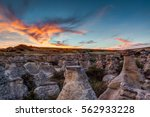 Dramatic Sunset Over The Hoodo...