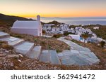 view of chora on ios island... | Shutterstock . vector #562941472