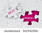 white puzzle with void in the... | Shutterstock . vector #562942396