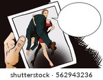 stock illustration. people in...   Shutterstock .eps vector #562943236