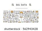 vector line concept for big... | Shutterstock .eps vector #562943428