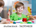 children creativity. kids... | Shutterstock . vector #562954828